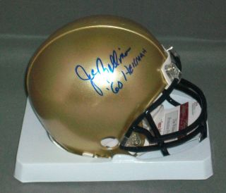 Joe Bellino Signed Autographed Navy Mini Helmet JSA Witness Heisman