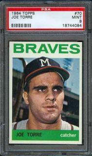 1964 Topps 70 Joe Torre Braves PSA 9 No 10s Low Pop
