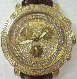 Joe Rodeo Classic JCL74 Mens Genuine Diamond Watch Gold Plated