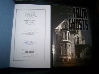FOUR GHOSTS SIGNED Ray Garton JOE HILL Peter Straub George Martin