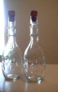 Set of 2 Vintage John Macnaughton Co Bottles Decanters Excellent