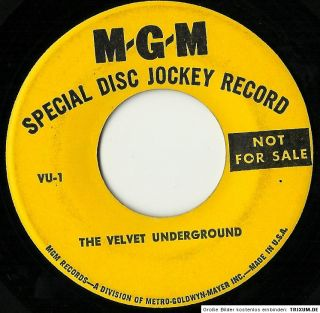 Velvet Underground Vu 1 45 Lou Reed MGM Radio Spot John Cale