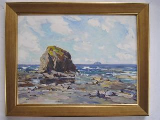 John Allan Dunure Ayrshire Scottish Impressionist Oil Painting