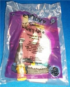 Simpson Spooky Light UPS 13 Bart Burger King Toys NIP
