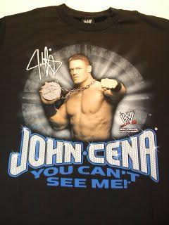 John Cena Signature CanT See Me WWE T Shirt Medium