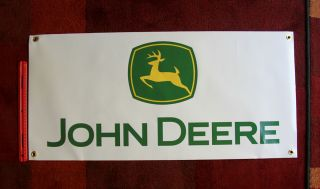 John Deere BANNER sign tractor parts gator 345 snow blower 317 GREAT