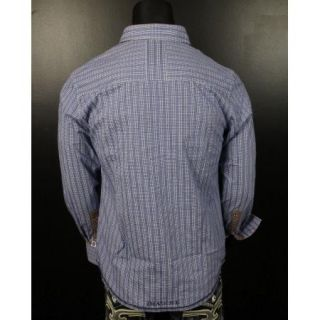 New John Lennon English Laundry Shirt Swindle Close in Blue JLW1329