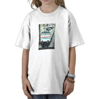 Amtrak Railroad E 60 Locomotive # 610 Top View Shirt