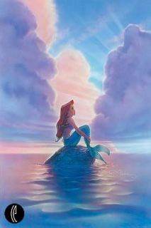 Ariel Disney Fine Art Giclee by John Alvin Mint