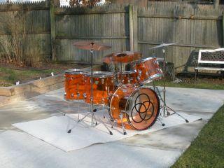 John Bonham Custom Downsized Amber RCI Starlite Drum Kit