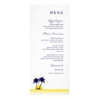 Beach Palm Tree Wedding Invitation