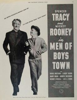 of Boys Town Mickey Rooney Spencer Tracy Actors Metro Goldwyn