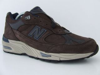 Mens New Balance Trainers 991 NBB Brown Navy Blue Retro Sneakers Made