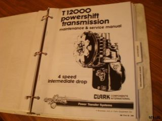 Clark Transmission Dana Gresen Hydraulic Service Parts Manual TL54A