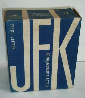 JFK 1st Edition Wheaton Bottle with Box John F Kennedy