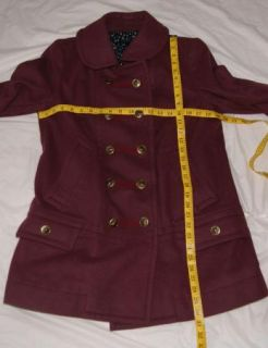 Marc Jacobs Wool Purple Coat Jacket Large Medium