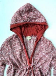 Ella Moss Anthropologie Womens Gorgeous Hooded Knit Sweater Shirt Sz M