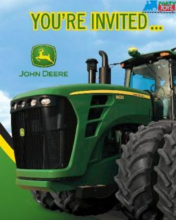 John Deere Party Birthday New Style Invitations