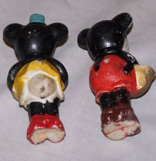 Antique Mickey Minnie Mouse Bisque Disney Figures