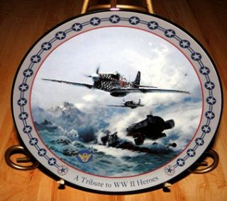 World War II Triumph in The Air Bradford Exchange Checkmate Fighter Jet Plate