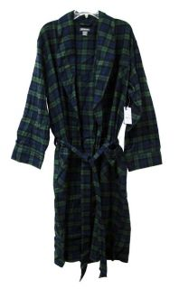 ST JOHNS BAY Mens Robe Sleepwear Tartan Sutherland 1 Size NEW FREE SHIP