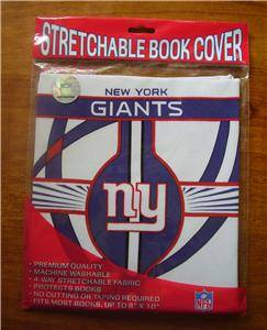 New York Giants Stretchable Book Cover NFL NY Premium Quality NIP