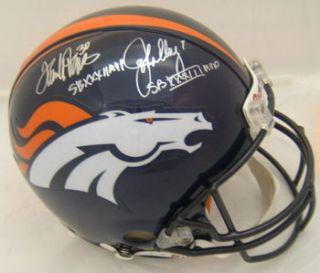 John Elway Terrell Davis Autographed Signed Proline Helmet Broncos w SB MVP