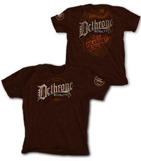 Dethrone Royalty Vintage Cain Velasquez Brown T Shirt