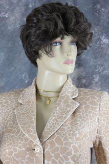 St John Collection Tan Ivory leopard animal logo Knit suit jacket blazer 4 6 2 S