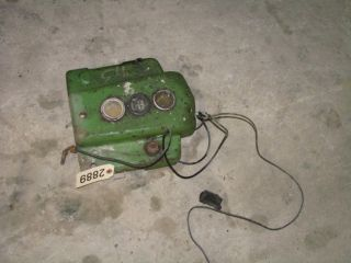 John Deere B Tractor Dash with Gages ID 2889