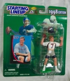 "Starting Lineup 1998 Denver Bronco John Elway 4"" Plastic Toy Figure New"