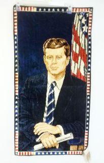 President John F Kennedy wall hanging vtg 60s 1964 Political Memorabilia