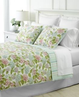 Martha Stewart Hydrange Full Queen Quilt Set