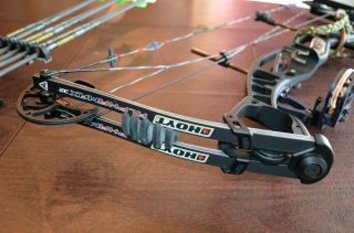 HOYT ALPHAMAX 32 28 DRAW Many Extras 18 Arrows 1 Vangaurd Case and more