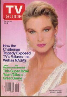 Nicollette Sheridan Knots Landing John Madden Pat Summerall 1987 TV Guide A