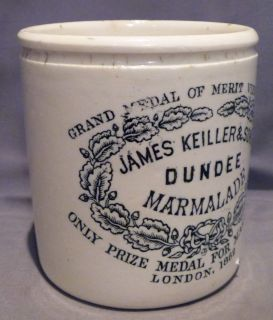 3 John Gray John Moir James Keiller Son Scotch Orange Marmalade Stoneware Jars