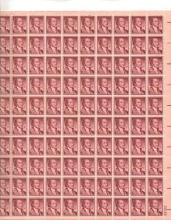John Jay Sheet of 100 x 15 Cent US Postage Stamps New
