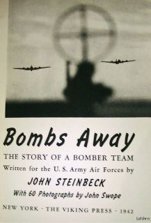 Bombs Away John Steinbeck 1st 1st U s Air Force Free Shipping US 1942