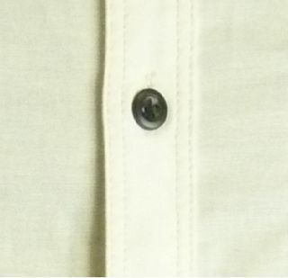 Mens Casual John Tungatt Designer Button Down Cream Black Oxford Shirt XLarge