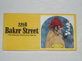 1977 221B Baker Street Board Game Sherlock Holmes Game Complete