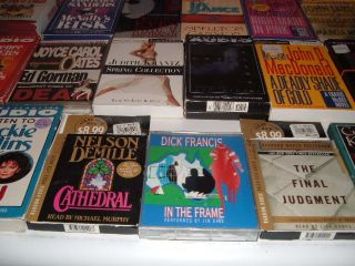 LOT 60 AUDIOBOOKS ON CASSETTE JOHN D MACDONALD TONY HILLERMAN MANY MANY MORE