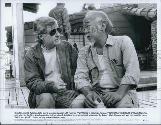 1989 Press Phoo Direcor John G Avildsen And Acor Pa Moria On Se Of Film |