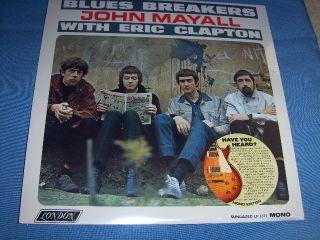 JOHN MAYALL BLUES BREAKERS ERIC CLAPTON VINYL MONO LP SEALED BRAND NEW