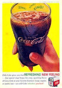 COCA COLA COKE COLA GLASS FOUNTAIN MACHINE 1962 AD