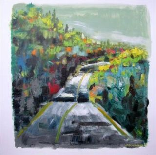 ORIGINAL Street Landscape Painting JMW art John Williams Expressionism scene
