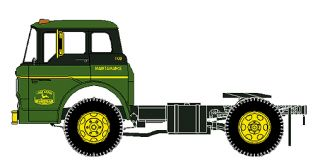 HO Scale 8104 Athearn Ford C Series John Deere Maintainance Truck Tractor