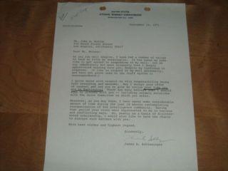John McCone James Schlesinger CIA AEC Atomic Letter Nuke Nuclear Spy Director