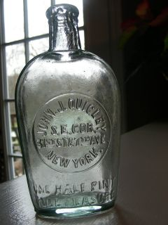 John J Quigley New York Half Pint Flask