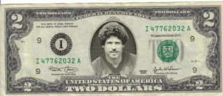 Washington Redskins John Riggins $2 Dollar Bill Mint RARE $1