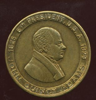 1825 1829 John Quincy Adams 6th President U s A Token 30mm 61543